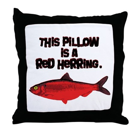 'Red Herring' Writer Throw Pillow