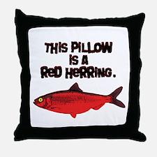 'Red Herring' Writer Throw Pillow