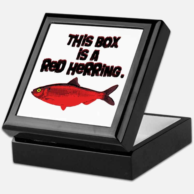 'Red Herring' Writer Keepsake Stash Box