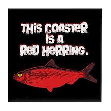 'Red Herring' Writer Tile Coaster