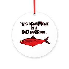 'Red Herring' Writer Ornament (Round)