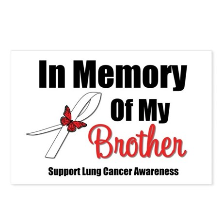 InMemoryBrother Lung Cancer Postcards (Package of