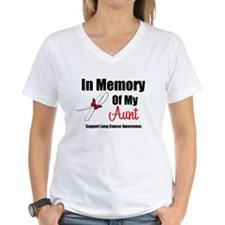 In Memory Aunt Lung Cancer Shirt