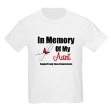 In Memory Aunt Lung Cancer T-Shirt