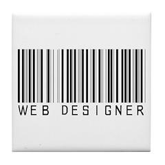 Web Designer Barcode Tile Coaster
