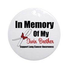 InMemoryTB Lung Cancer Ornament (Round)