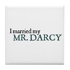 Jane Austen Married Darcy Tile Coaster