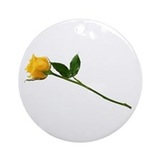 Yellow Rose Ornament (Round)