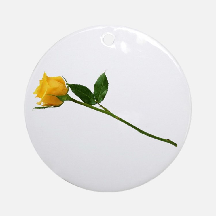 Yellow Rose Ornament (Round)