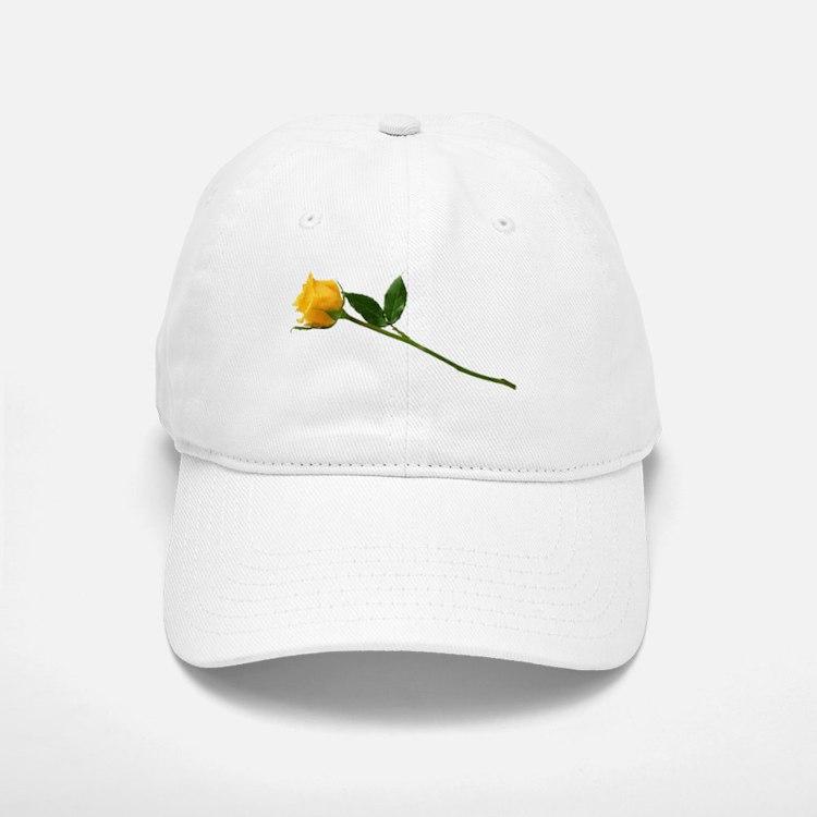 Yellow Rose Baseball Baseball Cap