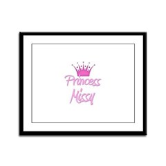 Princess Missy Framed Panel Print