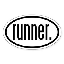 runner. Oval Decal