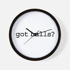 got balls? Wall Clock