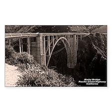 Bixby Bridge Rectangle Decal