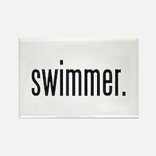 swimmer. Rectangle Magnet