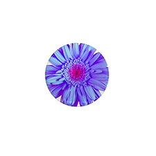 Periwinkle Gerbera Mini Button