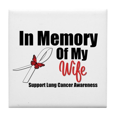 InMemoryWife Lung Cancer Tile Coaster