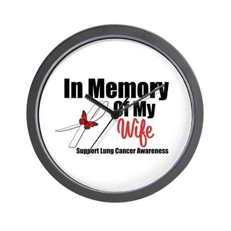 InMemoryWife Lung Cancer Wall Clock
