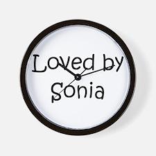 Cute Sonia Wall Clock