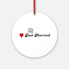 JUST MARRIED  Keepsake (Round)