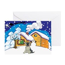 Log Cabin German Shepard Greeting Card