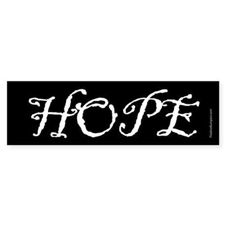 Hope (old script on black)