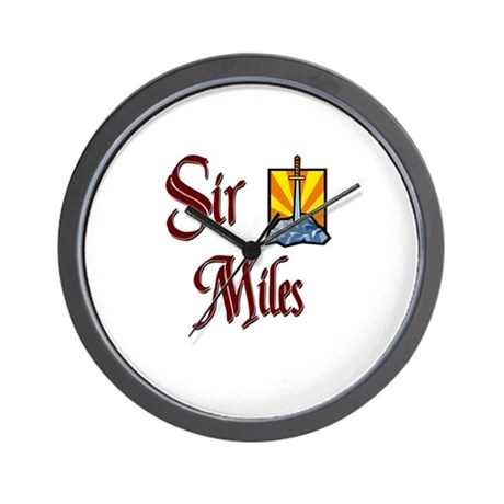 Sir Miles Wall Clock