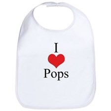 I Love (Heart) Pops Bib