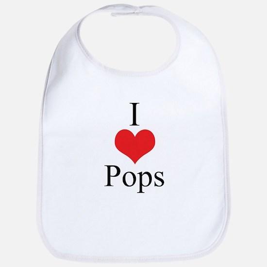 I Love (Heart) Pops Bib