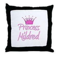 Princess Mildred Throw Pillow