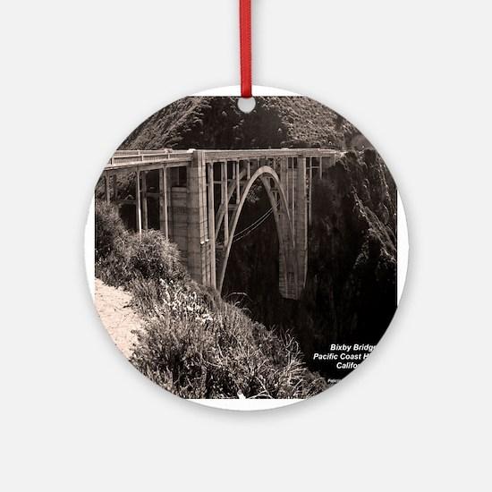 Bixby Bridge Ornament (Round)