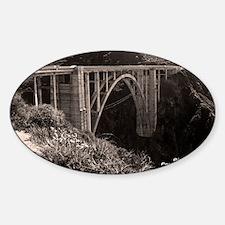 Bixby Bridge Oval Sticker (10 pk)