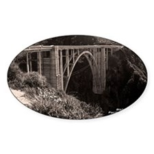 Bixby Bridge Oval Decal