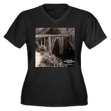 Bixby Bridge Women's Plus Size V-Neck Dark T-Shirt