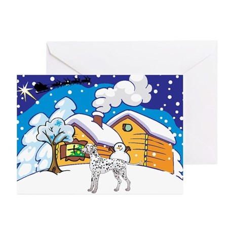 Log Cabin Dalmatian Greeting Cards (Pk of 20)