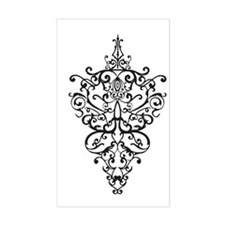 filigree Rectangle Decal