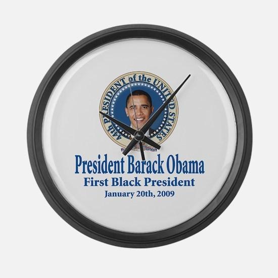 President barack Obama Large Wall Clock