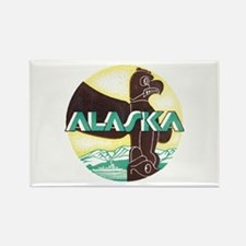 Alaska Totem Pole Rectangle Magnet