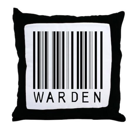 Warden Barcode Throw Pillow
