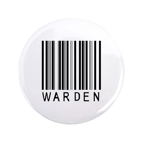 "Warden Barcode 3.5"" Button"