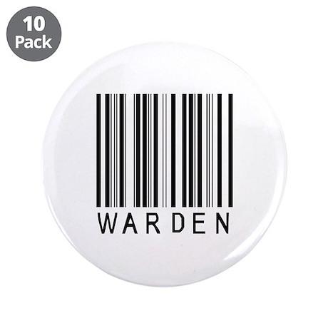 "Warden Barcode 3.5"" Button (10 pack)"