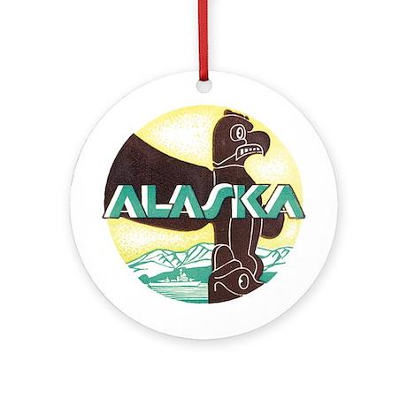 Alaska Totem Pole Keepsake (Round)