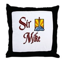 Sir Mike Throw Pillow