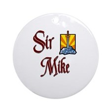 Sir Mike Ornament (Round)