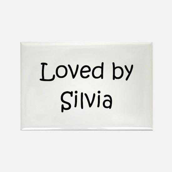 Unique Silvia Rectangle Magnet