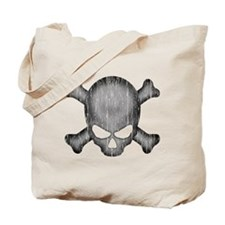 Glaring Crossbones Weathered Tote Bag
