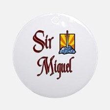 Sir Miguel Ornament (Round)