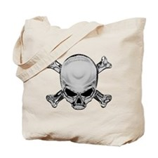 Glaring Crossbones Chrome Tote Bag