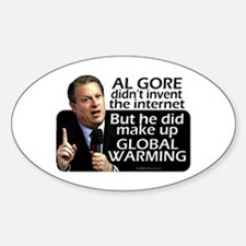 Gore Invented Global Warming Oval Decal