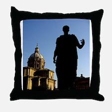 Caesar Flipping Off the Church Throw Pillow